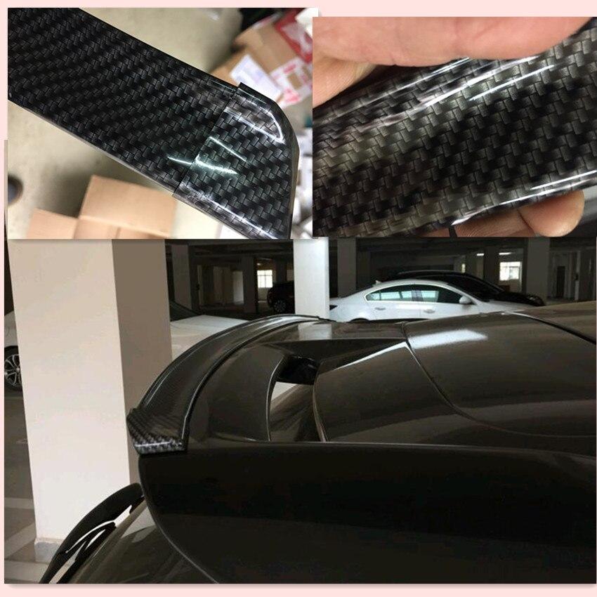 Car tail carbon fiber picture sports kit FOR solaris Skoda Rapid toyota rav4 kia k2 vw