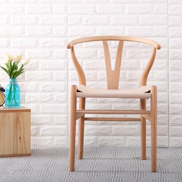 Minimalistische moderne Eetkamer Meubels houten Stoel hedendaagse ...