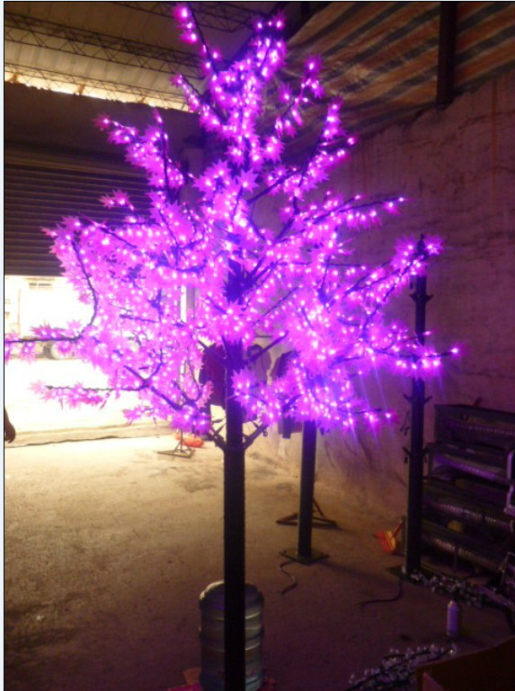 Free ship 945LEDs 6ft Height Pink LED Maple Tree Christmas Tree Light Waterproof 110/220VAC RED/Yellow/PINK Color Outdoor Use