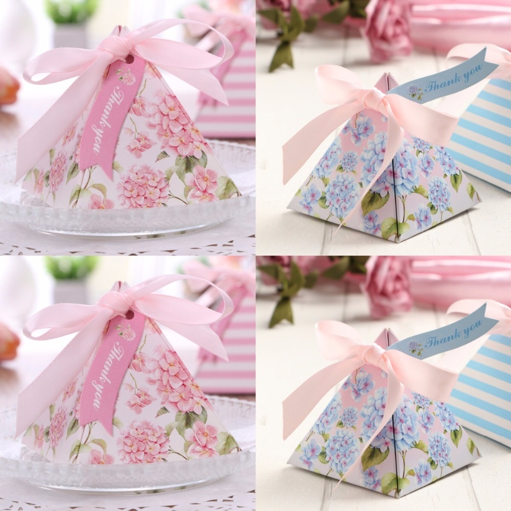 100pcs Promotional Exquisite Triangular sweet pink Flower Wedding ...