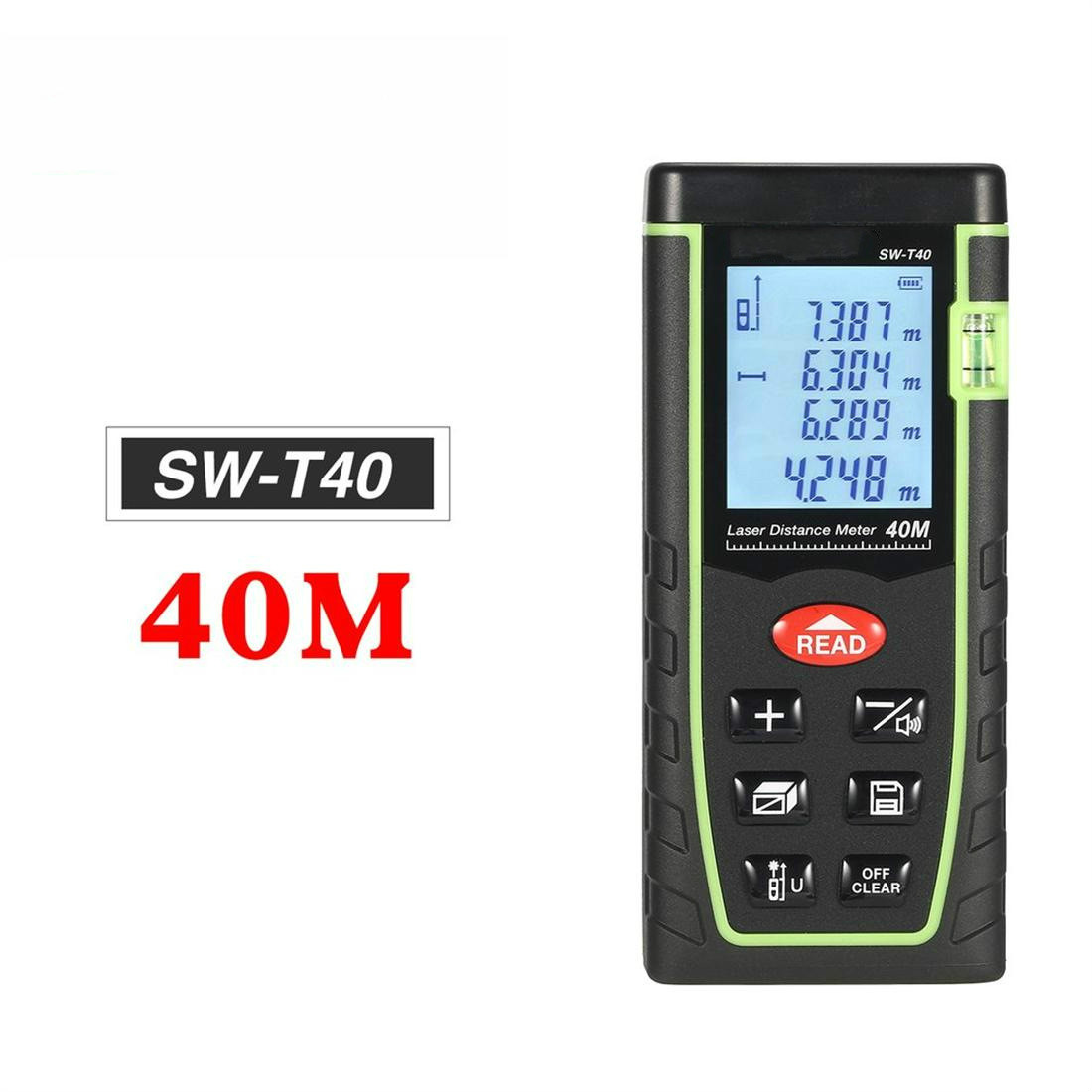 40 M mètre de Distance Laser portatif télémètre Trena Laser ruban télémètre construire mesure dispositif règle outil de Test