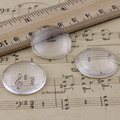 25mm Thickness:6mm Round Flat Back Clear Glass Cabochon Dome Cameo Jewelry Finding 5pcs/lot (K02902)