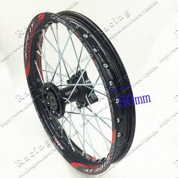 Pit Bike-llanta de rueda delantera de aleación de 14 pulgadas, negra, con 32 orificios, para PIT PRO KTM CRF 60/100, 1,40