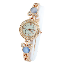 Style Gold Watch Girls Wristwatch Girls Clock Feminine Wristwatches Stainless Gold luxurious