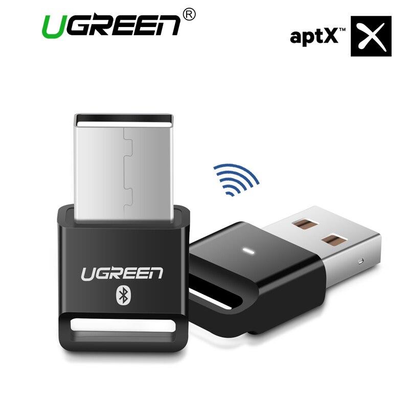 Ugreen adaptador Bluetooth Dongle USB para PC ordenador ratón inalámbrico Altavoz Bluetooth 4,0 receptor de la música adaptador Bluetooth, USB,