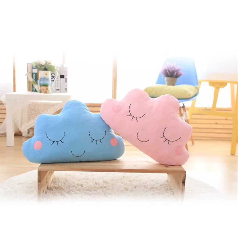 ZXZ New Creative Smile Wool Cloud Pillow Cushion Cotton toys kids decorative pillows for bed Dolls Stuffed Toys 50x30cm soft u shape cushion journey from watermelon kiwifruit orange fruit cushions tourism neck pillow autotravel pillows new hot