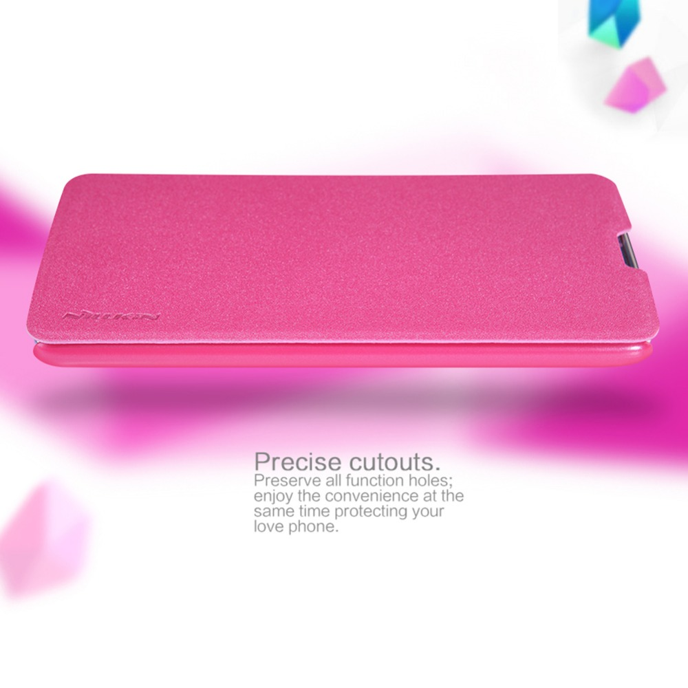 Nillkin sparkle pu + leather pc case cajas del teléfono la cubierta del tirón para lg k7 súper delgada cubierta del tirón de cuero duro de la contraportada para lg k7 case