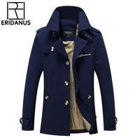 Winter Men Jacket Long Style Fashion Trench Coat Jaqueta Masculina Veste Homme Brand Casual Overcoat Slim Fit Outerwear 5XL X417