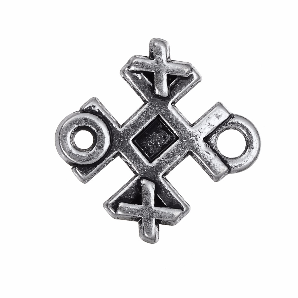 US $3 0 |Skyrim Unique Jewelry Making Findings Connector Intersection Charm  DIY Zinc Alloy Charms For Necklace/Bracelet/Earring 20Pcs-in Charms from