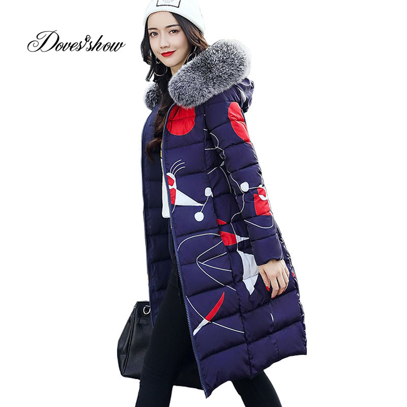 Thick Winter Jacket Women Fur Collar Padded Coat Mujer Reversible Jacket Overcoat Parka Wadded Casaco Feminino