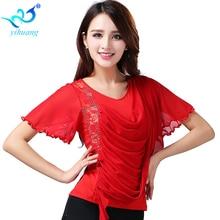 Free Shipping Ballroom Dance Costume Tops Ladies Modern Standard Blouses Latin Flamenco Tango Waltz Latin Salsa Samba Tops