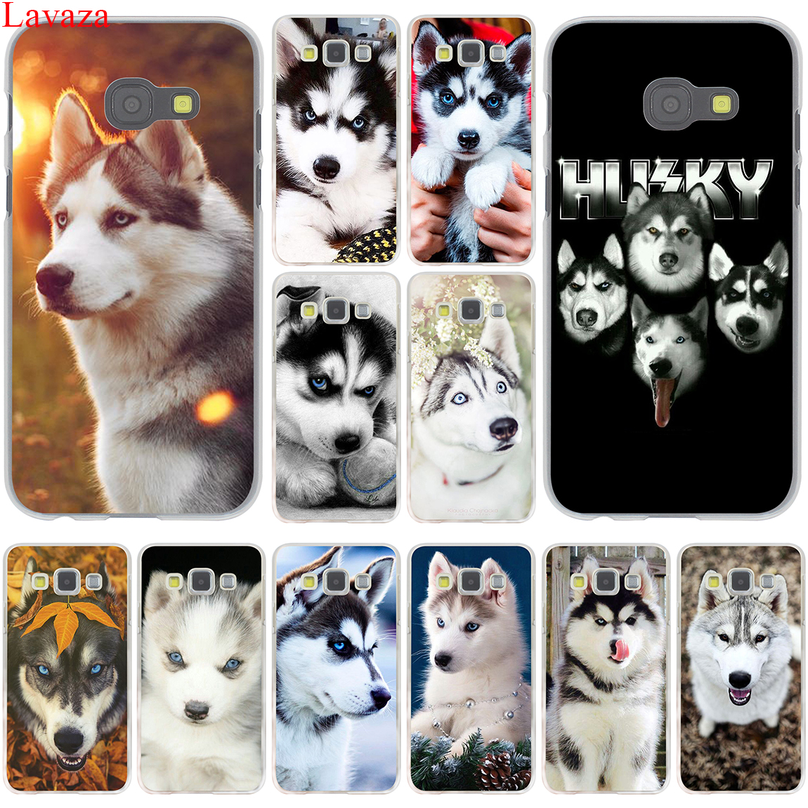 Lavaza Animal Husky puppy Hard for Samsung Galaxy A3 A5 A7 A8 2015 2016 2017 2018 Grand Prime Note 8 5 4 3 2