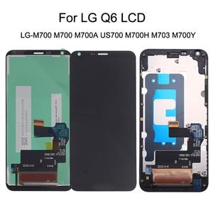 Image 1 - 5.5 originale Per LG Q6 LG M700 M700 M700A US700 M700H M703 M700Y Display LCD + Touch Screen Digitizer kit di Parti Del Telefono con Cornice