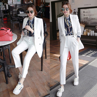 Limited Female Business Suit Terno Feminino Leisure Autumn Fashion Professional Jacket Two piece Women Full Double Breasted