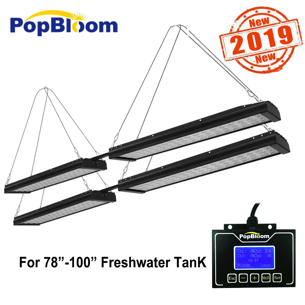 Freshwater Led Aquarium Fish Tank lights Fishing Lamp For Planted Full Spectrum Sunrise Sunset Dimmable FI4BP4