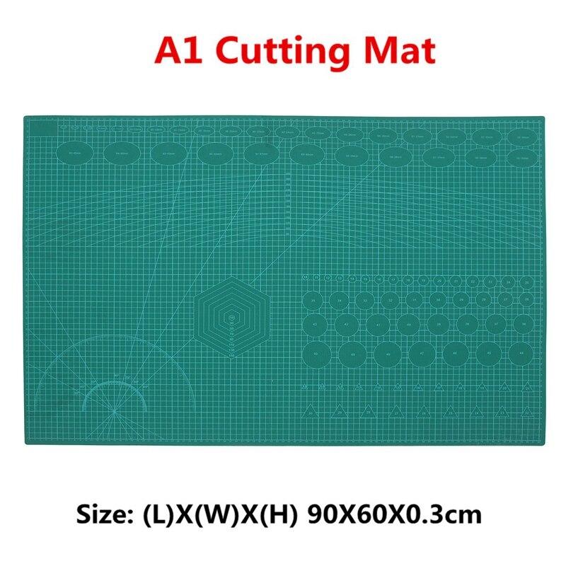 A1 PVC Auto-Guérison Tapis De Coupe Rotatif Double-Face Quilting Grille Lignes Imprimé Conseil bricolage Patchwork outils d'artisanat planche à découper