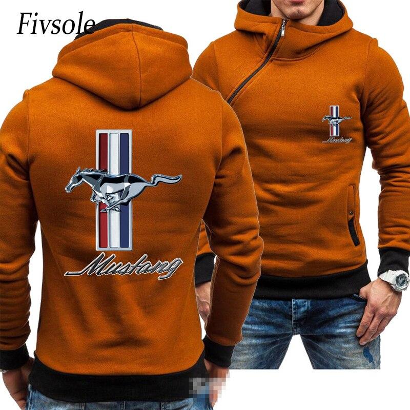 Fivsole 2019 New Hoodies Men's Diagonal zip up reguler Jackets Man Casual Fleece Hooded OVERSIZE Coats Man