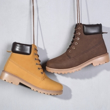 Winter Platform Boots Men Ankle Boots
