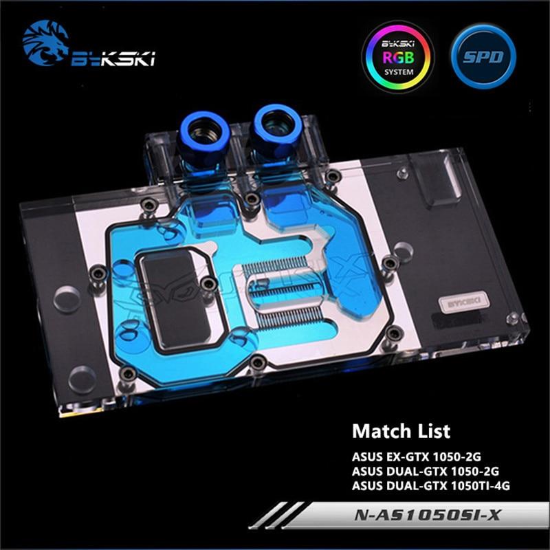 Bykski Full Coverage GPU Water Block For ASUS GTX1050 GTX1050TI Graphics Card N-AS1050SI-X