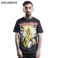 Aolamegs T Shirt Men Iron Maiden 3D Print Heavy Metal Rock Men T Shirts Pure Cotton