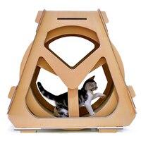 Кот беговая дорожка колеса спортивные бег потеря веса хомяк маленький питомец тарелка лапа поставки гофрированная бумага колесо обозрения