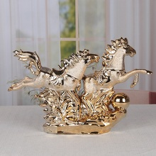 Ceramic horse  MA Creative ceramic crafts office lucky decoration