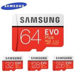 سامسونج EVO + مايكرو SD 32G SDHC 80 برميل/الثانية الدرجة Class10 بطاقة الذاكرة C10 UHS-I TF/SD بطاقات عبر فلاش SDXC 64GB 128GB للشحن