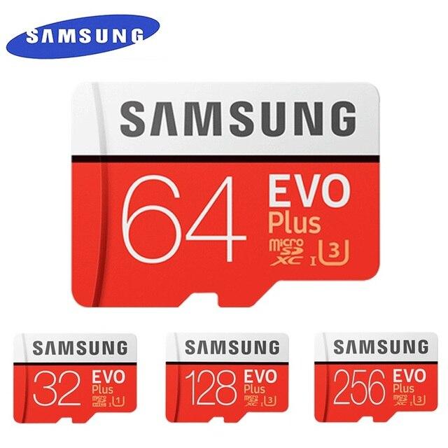 SAMSUNG EVO + Micro SD 32G SDHC 80 mo/s Grade Class10 Carte Mémoire C10 UHS-I TF/cartes SD Trans flash SDXC 64 GO 128 GO pour l'expédition