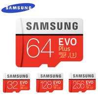 SAMSUNG EVO + Micro SD 32G SDHC 80 mo/s Grade Class10 carte mémoire C10 UHS-I TF/SD cartes Trans Flash SDXC 64GB 128GB pour l'expédition