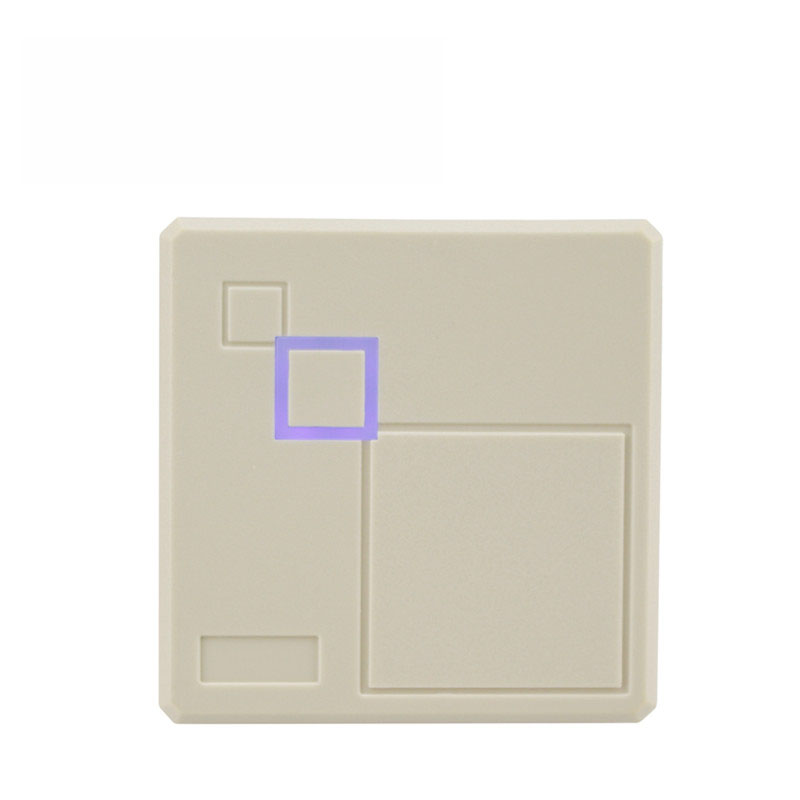 Access Control Door Card Reader ID IC 12V Plastic White Wiegand 26/34/ Rs232/ Rs485 Rfid Readers