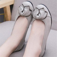 Women's shoes spring and autumn shoes soft bottom women's shoes comfortable wedges flat bottom shallow mouth ladies single shoes