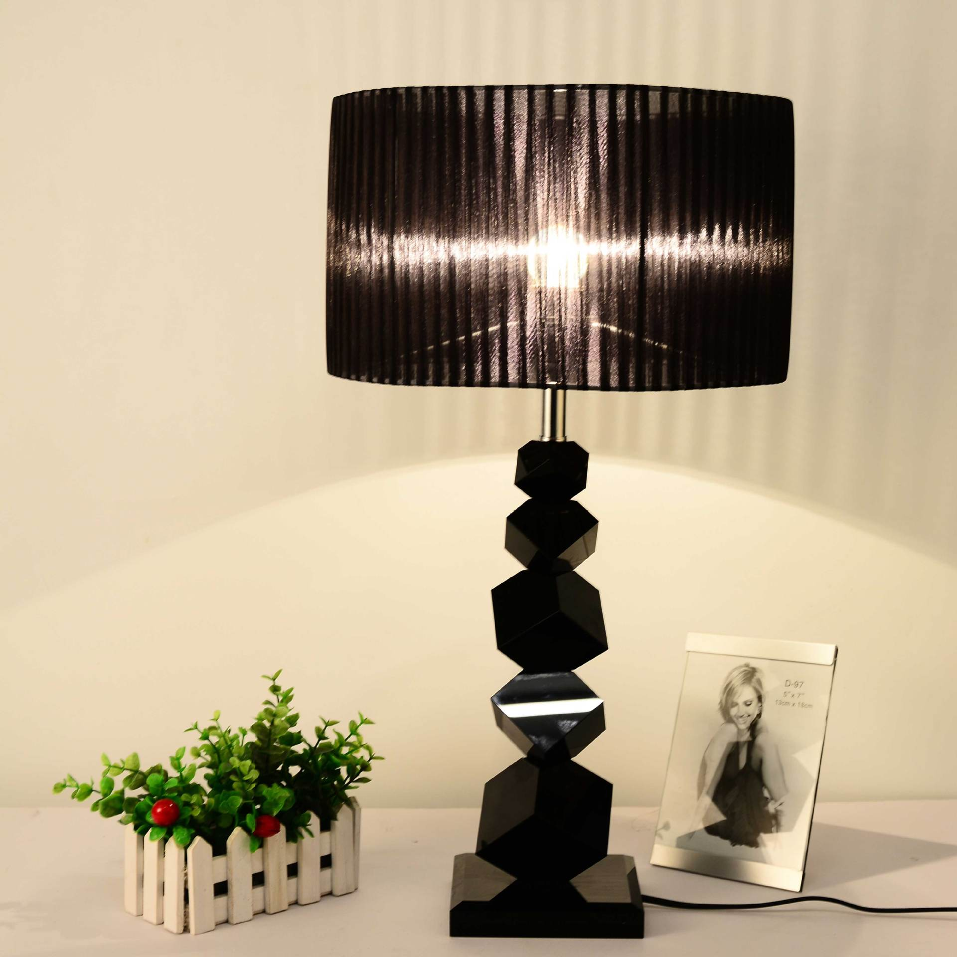 Black table lamp with crystals - 2017 Tuda Table Lamps Modern Crystal Lamp Black Crystal Table Lamp For Bedroom The Head Of