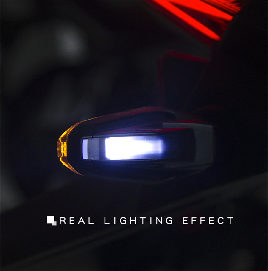 Motorcycle modified Turn signals waterproof turn lights LED direction lamp decorative motocross lights Blue Daytime lamp