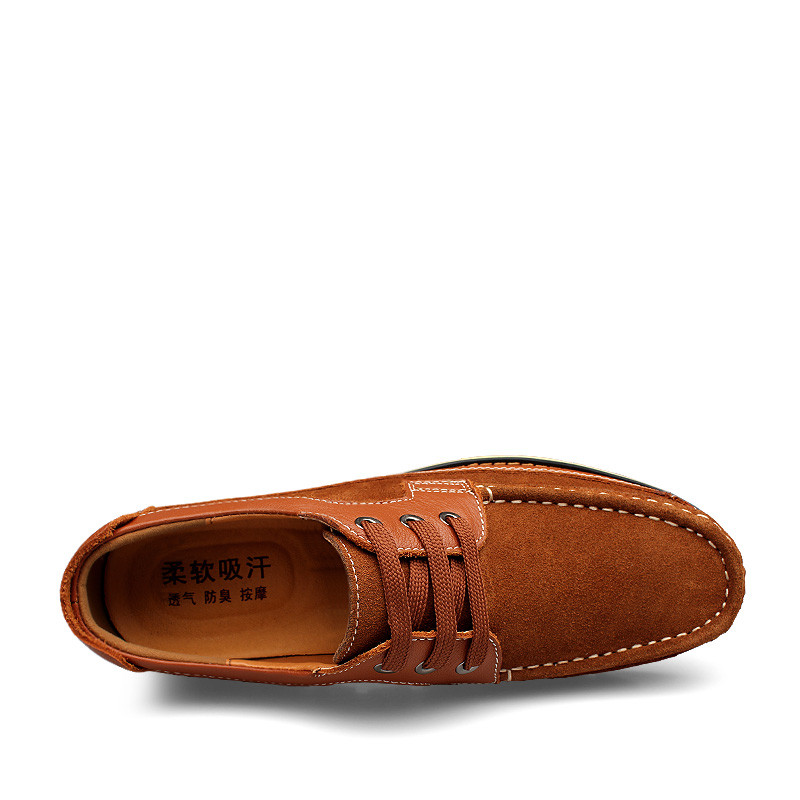 De Dos black Oxfords B Vestem Alta Up A Couro brown Genuíno A Qualidade brown Black Homens Se Lace Sapatos Respirável B qRYx0ytT