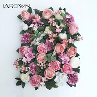 JAROWN Artificial Flower Row Simulation Rose Peony Hydrangea Background Wall Fake Flowers Wedding Feast Arrangement Props Flores