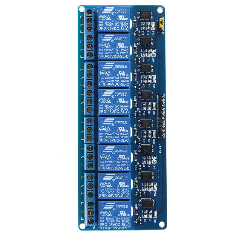 2X DC 5V 8 Channel Relay Module Board Shield for PIC AVR Arduino MCU DSP 5v 2 channel ir relay shield expansion board module for arduino with infrared remote controller