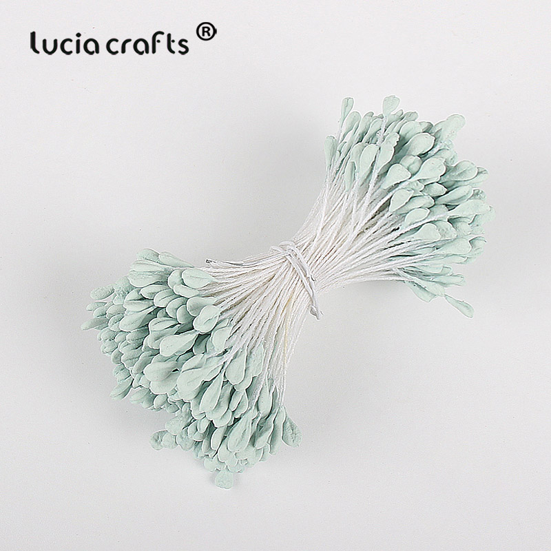 Image 5 - Lucia crafts 330pcs 3mm high quality Matte  double heads flower stamen pistil cake decoration craft DIY C1202-in Artificial & Dried Flowers from Home & Garden
