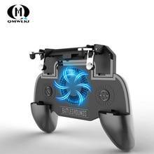 Pubg Mobile Trigger Controller Gamepad  L1R1 Button Aim Key Shooter Joystick Cooler Fan with 2000/4000mAh Power Bank