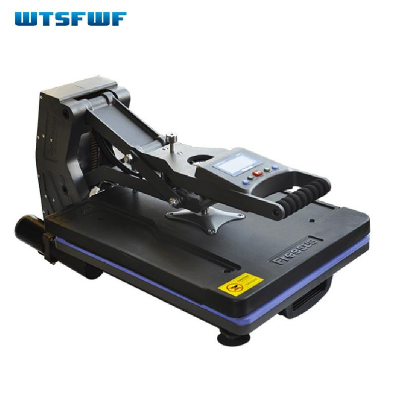 Wtsfwf 40*50CM High Pressure Heat Press Printer Machine 2D Thermal Transfer Printer for Tshirts Cases Pads Printing