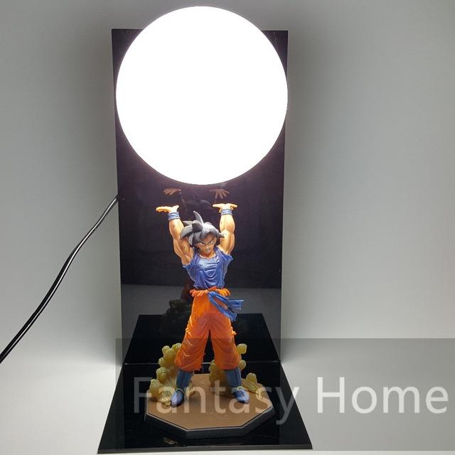 Dragon Ball Z Action Figure Son Goku Spirit Bomb PVC Figure + Light