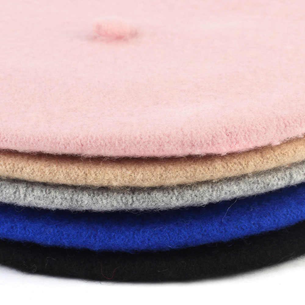 Geebro бренд Для детей от 2 до 8 лет Детская одежда для девочек берета осень модные однотонные шерстяные береты для конкурсов красоты для маленьких девочек французский художник Берет Лидер продаж