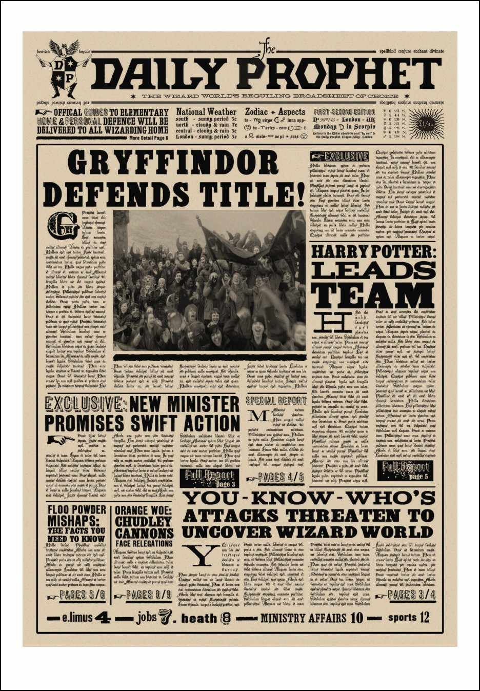 picture about Daily Prophet Printable known as Harry Potter Sought after Obtain Negative No.1 Classic Retro Kraft Poster Posters.Day by day prophet posters/ Sirius Black poster P3