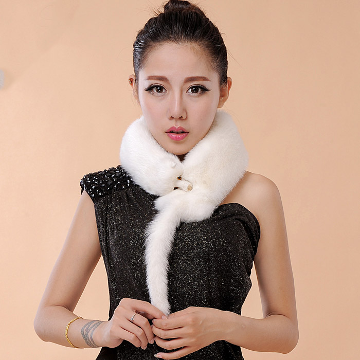 MIARA.L mink fox fur scarf children and women festival gifts winter