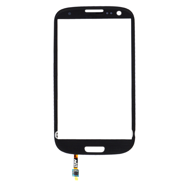 Wholesale High quality BLACK Glass Lens with Sensor Flex Cable For Samsung Galaxy S3 SIII I9300 with free tracking NO