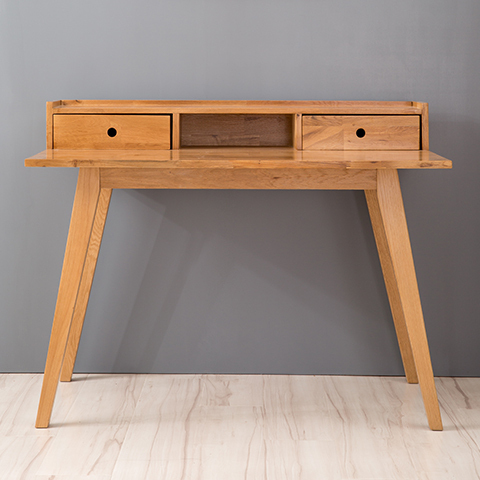 Japanese White Oak Solid Wood Desk With Drawers Nordic
