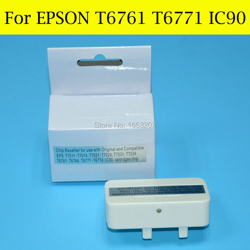 1 PC Original Chip Resetter For Epson T7011 T7021 T7031 T6761 T6771 IC90 For EPSON WP 4010/4020/4000/4025/4535/4015 Printer t6761 t6761 t6764 refill ink cartridge for epson workfore wp 4010 wp 4023 wp 4090 wp 4520 wp 4533 wp 4590 wp4530 wp4540 wp 4020