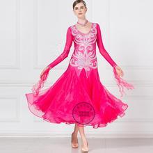 Платья для конкурса бальных танцев по индивидуальному заказу, для девочек, Бальные стандартные платья для танцев, для ювенальных танцев, для сцены, бальные платья красного цвета 17212