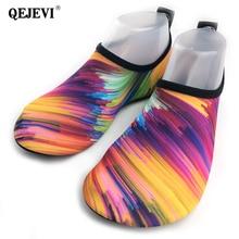 2018 QEJEVI Hot Design antypoślizgowe buty do wody Mężczyźni Buty plażowe Kobiety Outdoor Buty do pływania Dorosły Aqua Flat Soft Sneaker Walk Buty