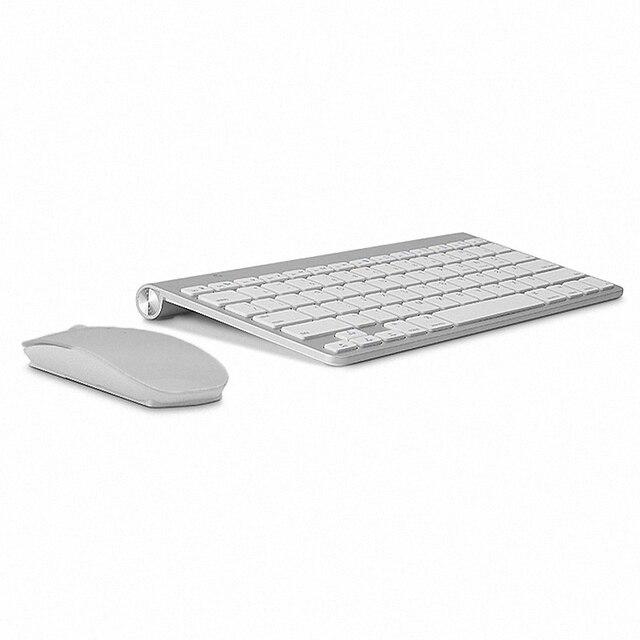 c1b554438ac Russian Keyboard Ultra-Thin Wireless Keyboard Mouse Combo 2.4G Wireless  Mouse for Apple Keyboard Style Mac Win XP/7/8/10 Tv Box