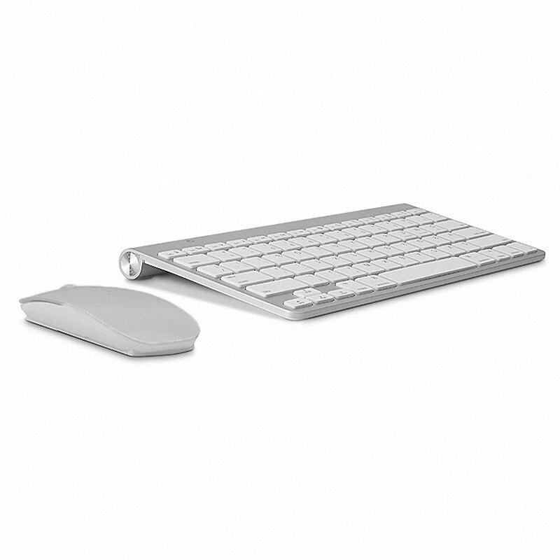 Russische Tastatur Ultra-Dünne Drahtlose Tastatur Maus Combo 2,4g Drahtlose Maus für Apple Tastatur Stil Mac Win XP /7/8/10 Tv Box